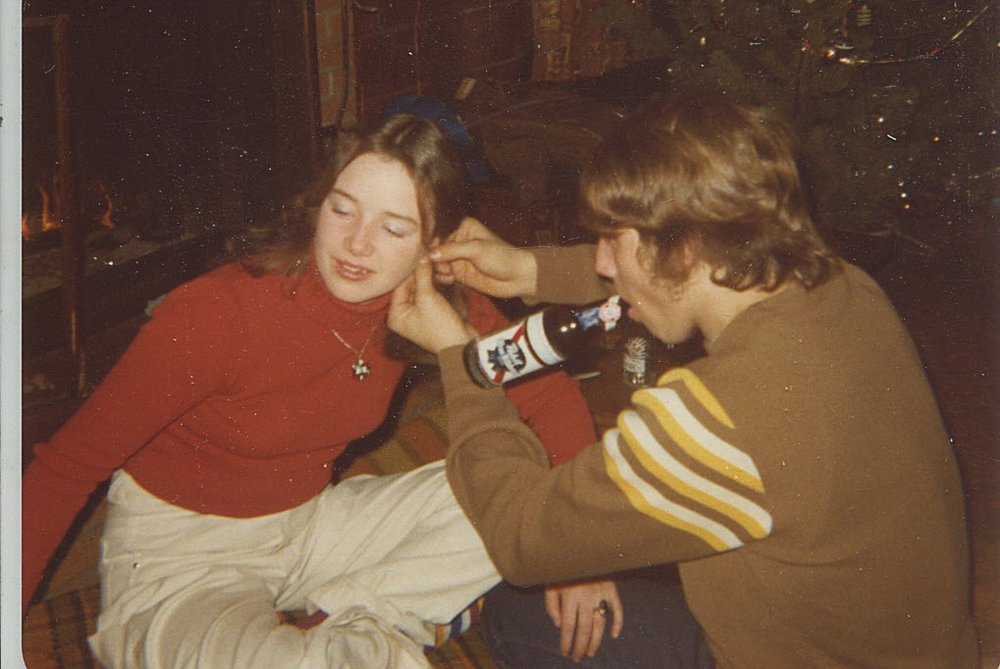 Tamara Saviano and Bob Kayser at Mapleview Resort, New Year's Eve 1976