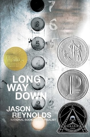 Long Way Down - Author: Jason ReynoldsDescription: Long Way Down is a contemporary verse novel told during the span of one elevator ride in which the protagonist has to decide what he is going to do about the death of his brother. The book features an African American male main character.Includes: #ownvoices #africanamerican #black #maleprotagonist #intergenerationalviolence #grief #trauma #versenovel #contemporaryCitation: Reynolds, J. (2017). Long Way Down. New York: Atheneum Books for Young Readers.Image retrieved from: Goodreads.