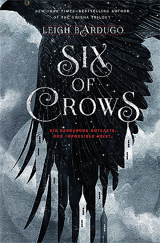 Six Of Crows - Author: Leigh BardugoDescription: Six of Crows is an adventure story with five main characters, two of whom live with disabilities and mental health issues that include chronic pain and trauma.Includes: #disability #chronicpain #trauma #magic #fantasy #femaleprotagonist #maleprotagonistCitation: Badugo, L. (2015). Six of Crows. Henry Holt and Company.Image retrieved from: Goodreads.
