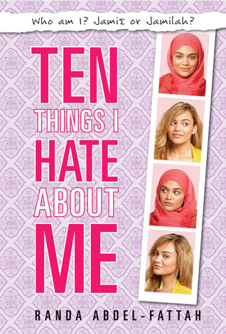 Ten Things I Hate About Me - Author: Randa Abdel-FattahDescription: Ten Things I Hate About Me is a contemporary novel set in Australia about a Muslim teen who is living a double life. At home, she is everything her dad wants her to be, a stereotypical Muslim girl. At school, she is blonde and goes by an anglicized name. She is just trying to figure out who she really is.Includes: #ownvoices #muslim #femaleprotagonist #contemporaryCitation: Abdel-Fattah, R. (2007). Ten Things I Hate About Me. Marion Lloyd.Image retrieved from: Goodreads.
