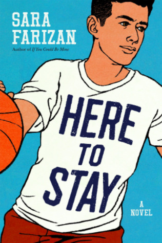 Here To Stay - Author: Sara FarizanDescription: Here To Stay is a contemporary sports novel about a Muslim American boy who loves to play basketball. When he is called off of the team's varsity bench and makes the winning shot, everything in his life changes instantly. He shoots from anonymity to popularity and everything seems great until an anonymous cyberbully sends the entire school a photoshopped image of him looking like a terrorist. It is during this difficult time that he finds out who his true friends are.Includes: #muslim #asianamerican #basketball #maleprotagonist #contemporary #sportsCitation: Farizan, S. (2018). Here To Stay. Algonquin Young Readers.Image retrieved from: Goodreads.