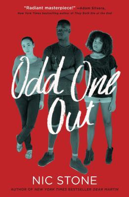 Odd One Out - Author: Nic StoneDescription: Odd One Out is a contemporary novel about three friends and their complicated love triangle. The triangle includes bisexual love interests and three alternating perspectives.Includes: #ownvoices #bisexual #lovetriangle #interraciallove #africanamerican #black #asianamerican #latinx #contemporary #femaleprotagonist #maleprotagonistCitation: Stone, N. (2018). Odd One Out. Crown Books for Young Readers.Image retrieved from: Goodreads.