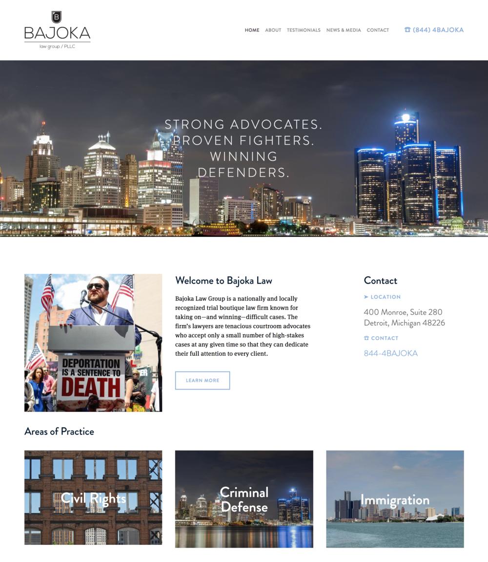 Bajoka Law Website