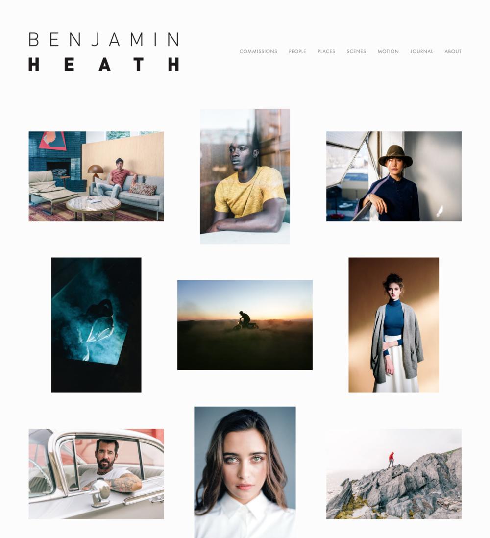 Benjamin Heath Photography Website