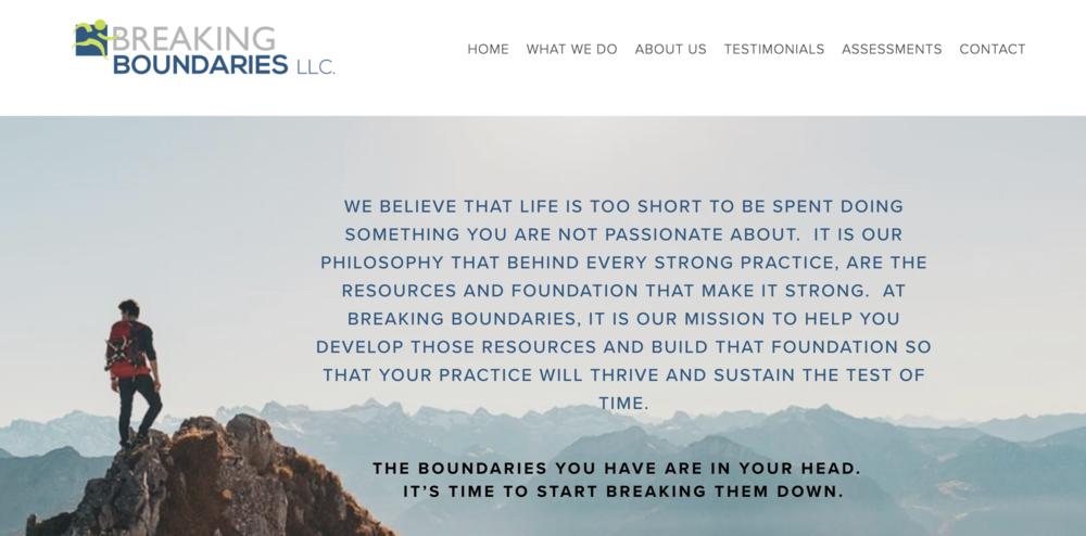 Breaking Boundaries LLC Website