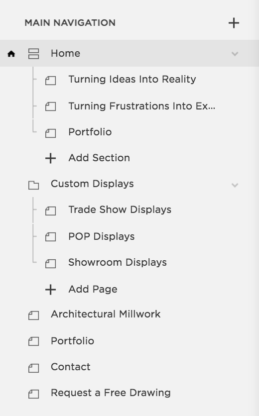 Architecture Set up in Squarespace