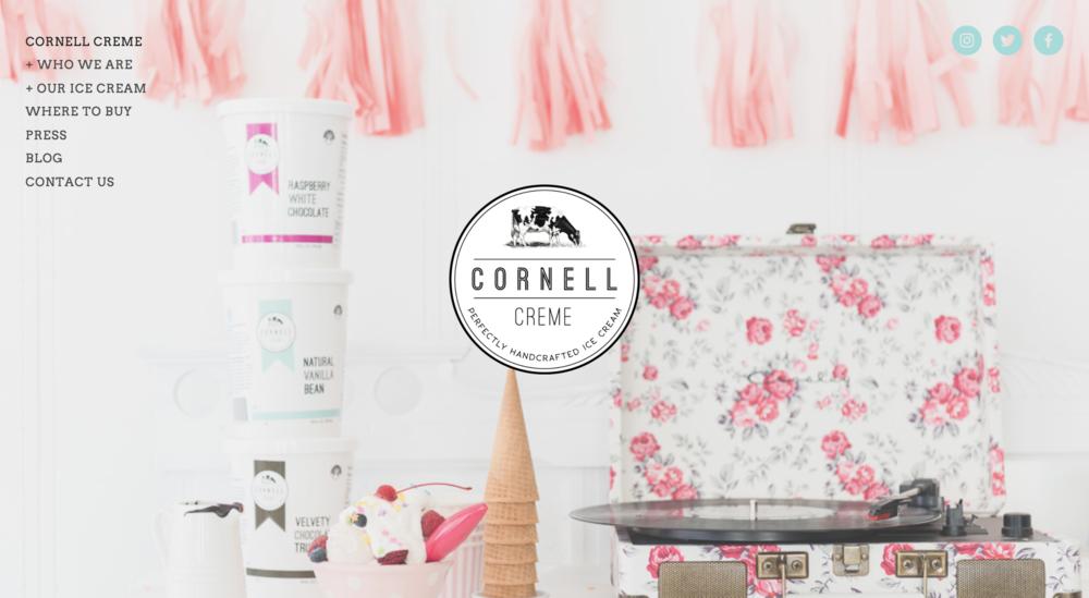 Cornell Creme Ice Cream Website
