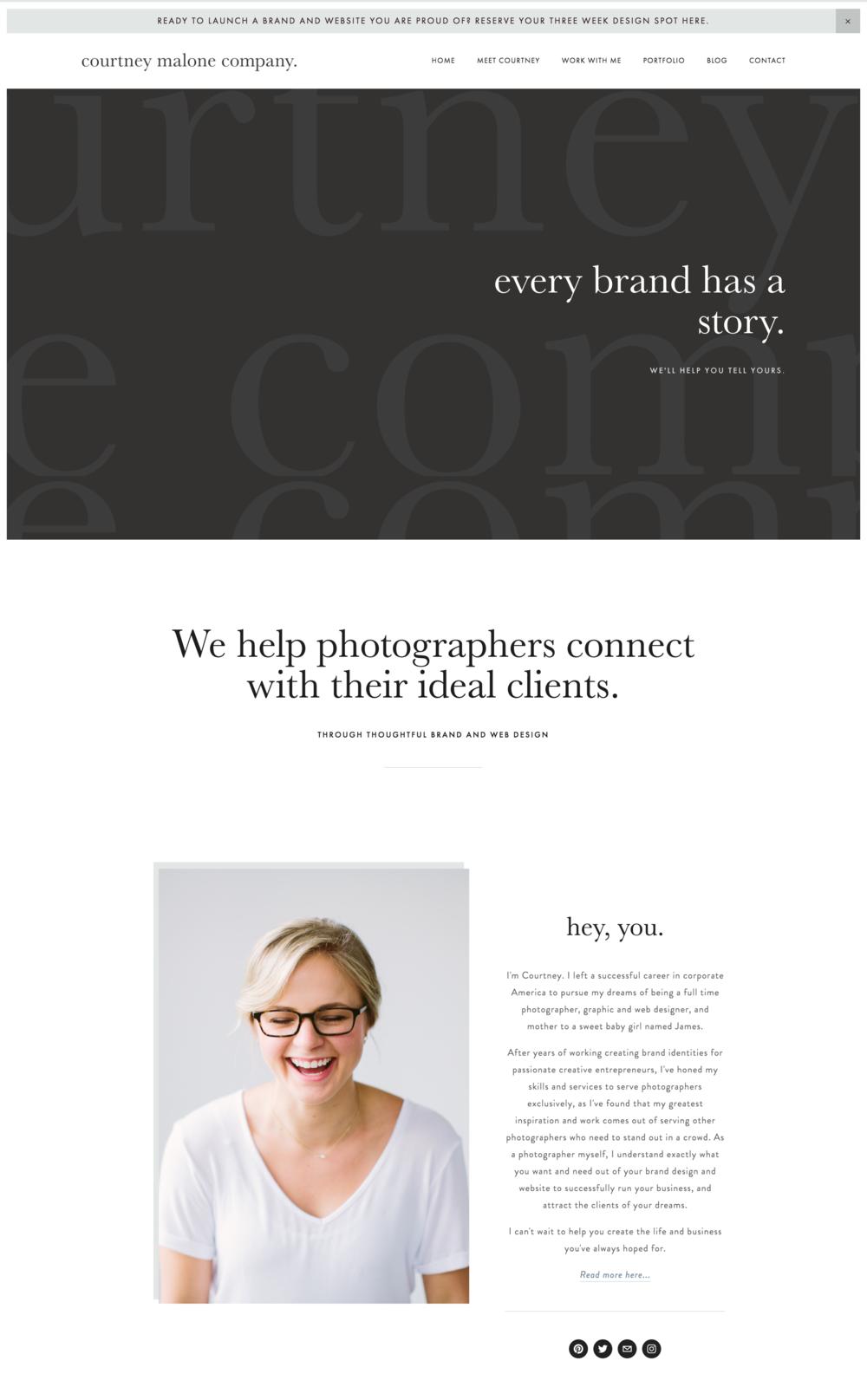 Courtney Malone Creative Services Website