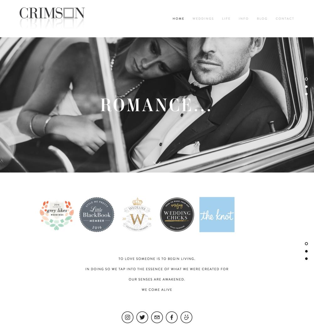 Crimson Photos Photography Website