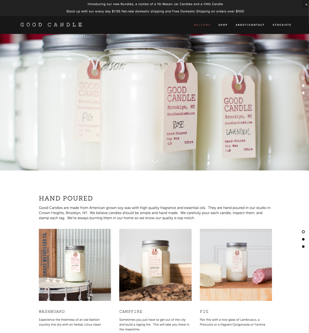 Good Candle Website