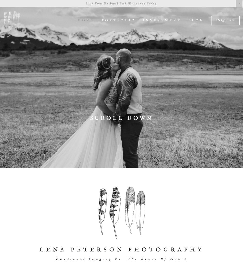 Lena Peterson Photography Website