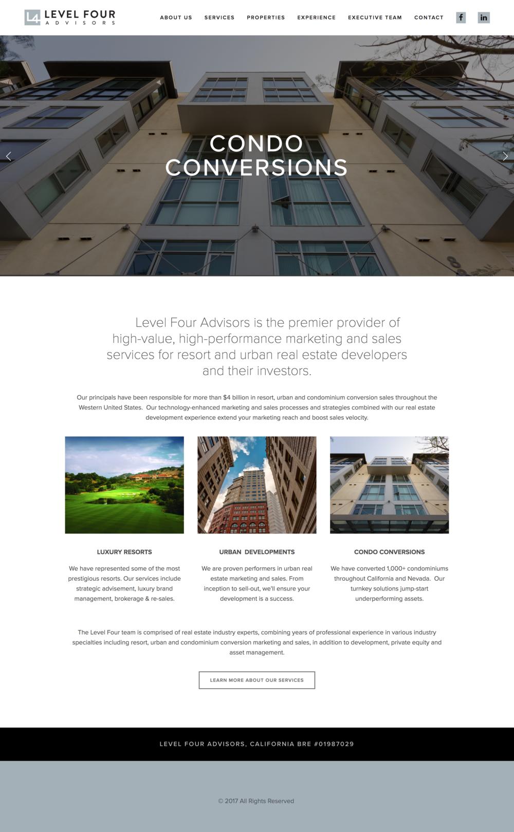 Level 4advisors Real Estate Website