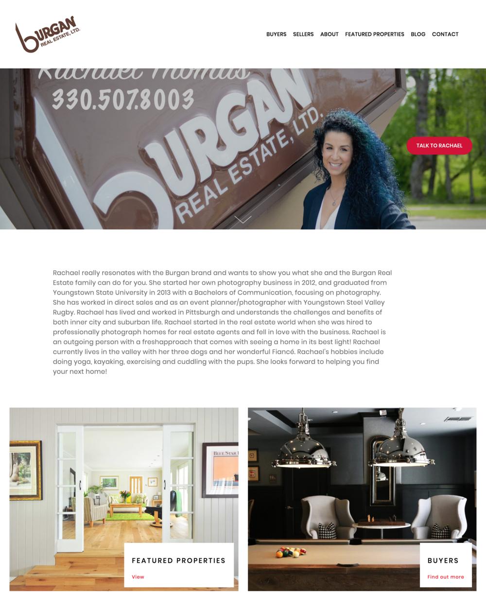 Lindsey Burgan Real Estate Website