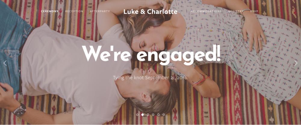 Luke and Charlotte Wedding Website