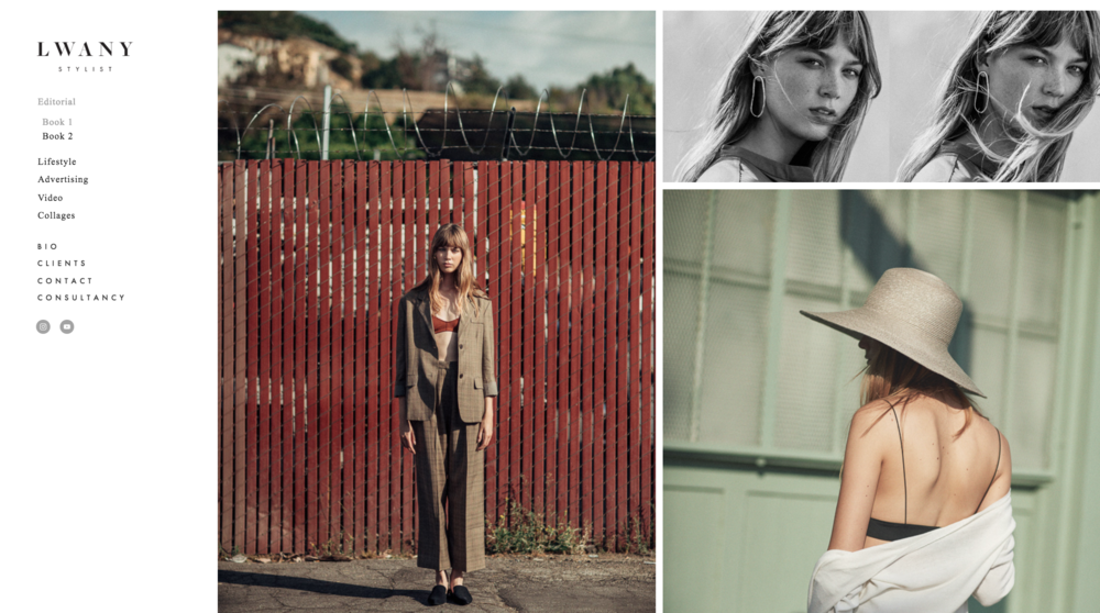 Lwany Fashion Artist Website