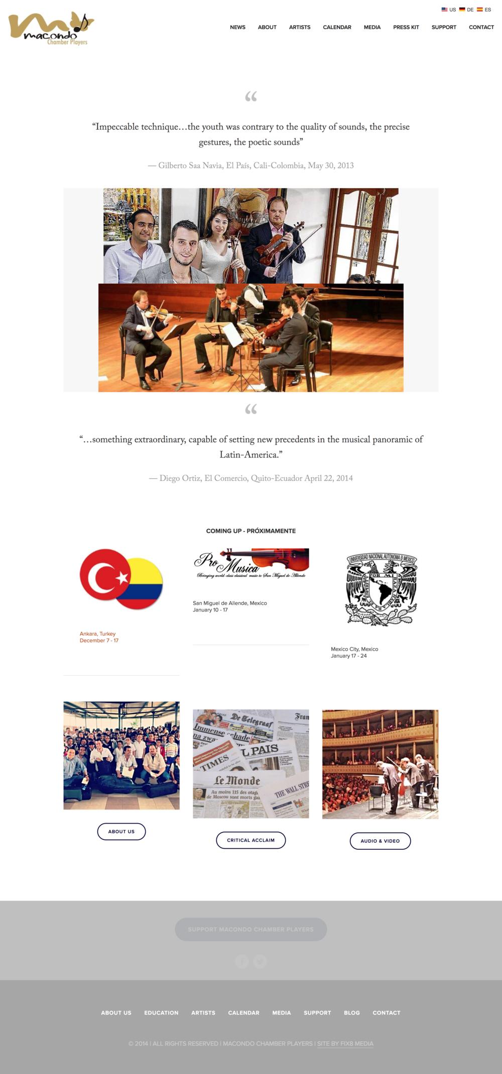 Macondo Chamber Players Musician Website