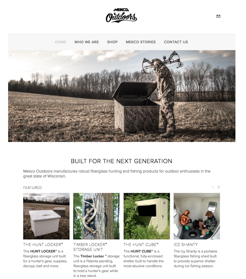 Mekco Outdoors Online Store Website