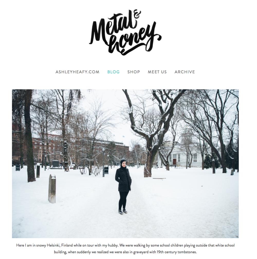 Metal and Honey blog website