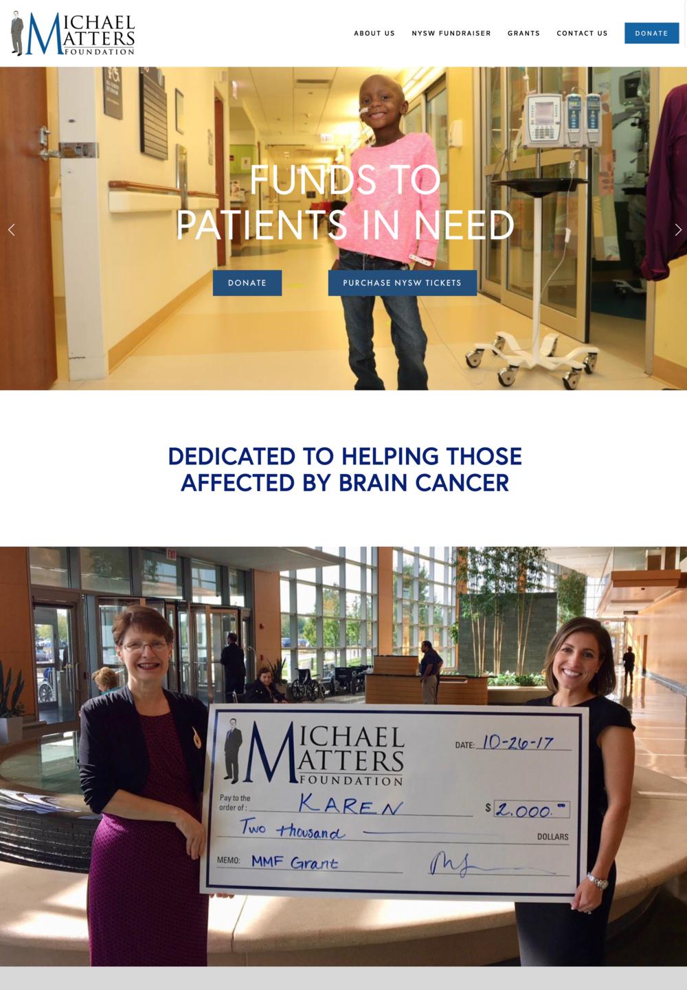 Michael Matters Foundation Non-Profit Website