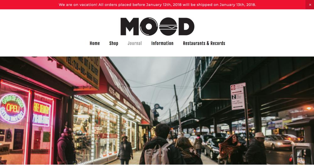Mood music food blog website