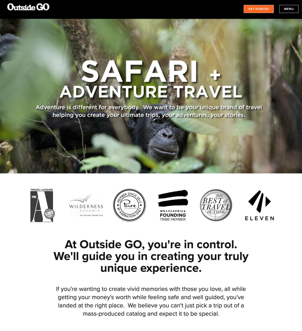 Outside Go Travel Website