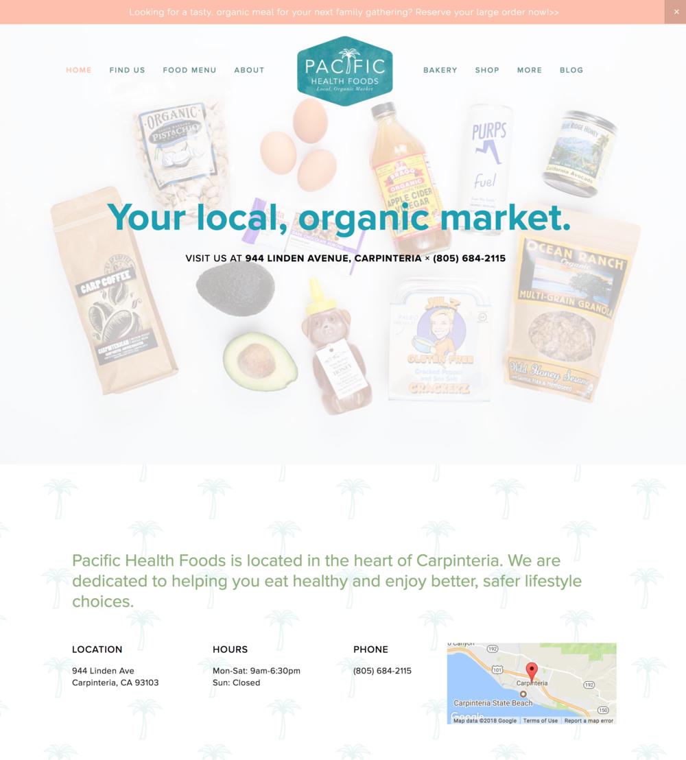 Pacific Health Foods Website