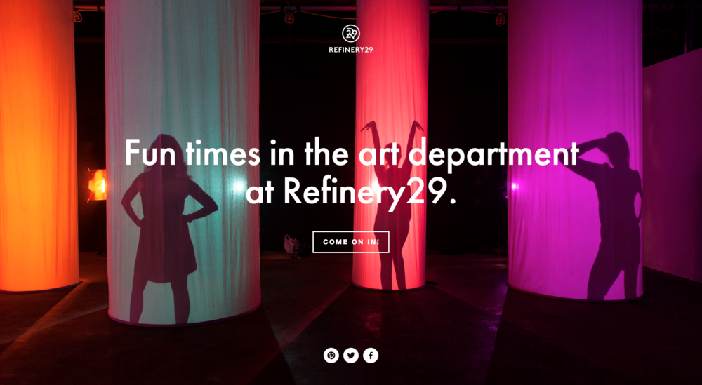 Refinery 29 Creative Services Website