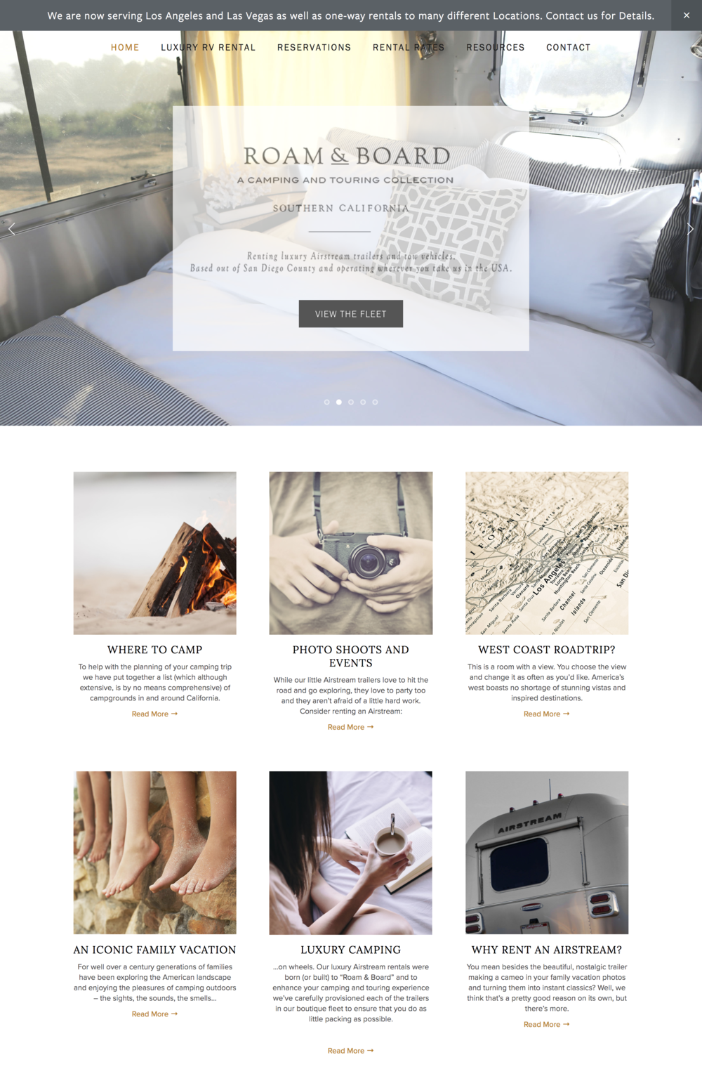 Room and Board Travel Website