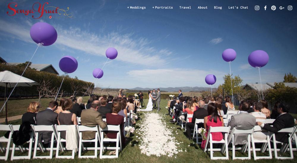 Sonya Yruel Wedding Photography Website