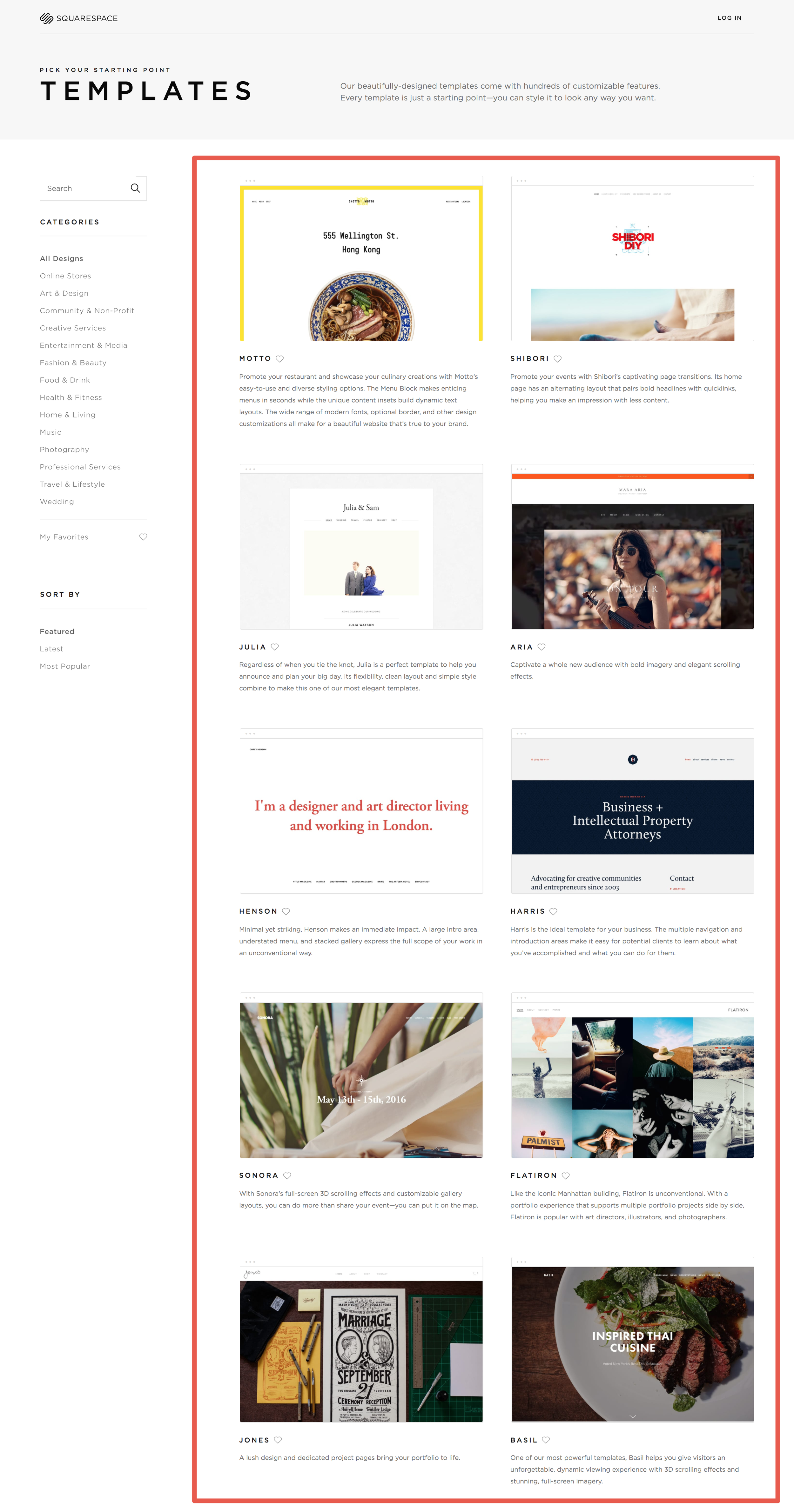 Example of Target Audience Purpose on Squarespace Site