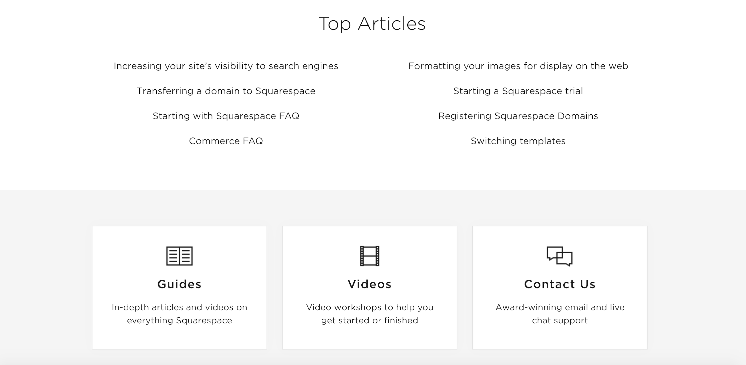 Squarespace has a full library of help articles and videos.