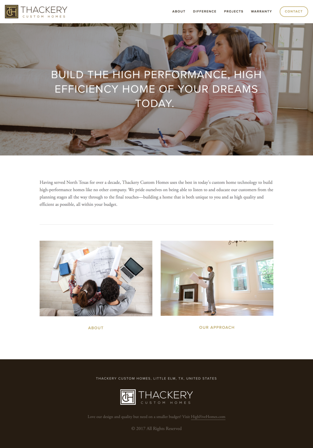 Thackery Homes Real Estate Website