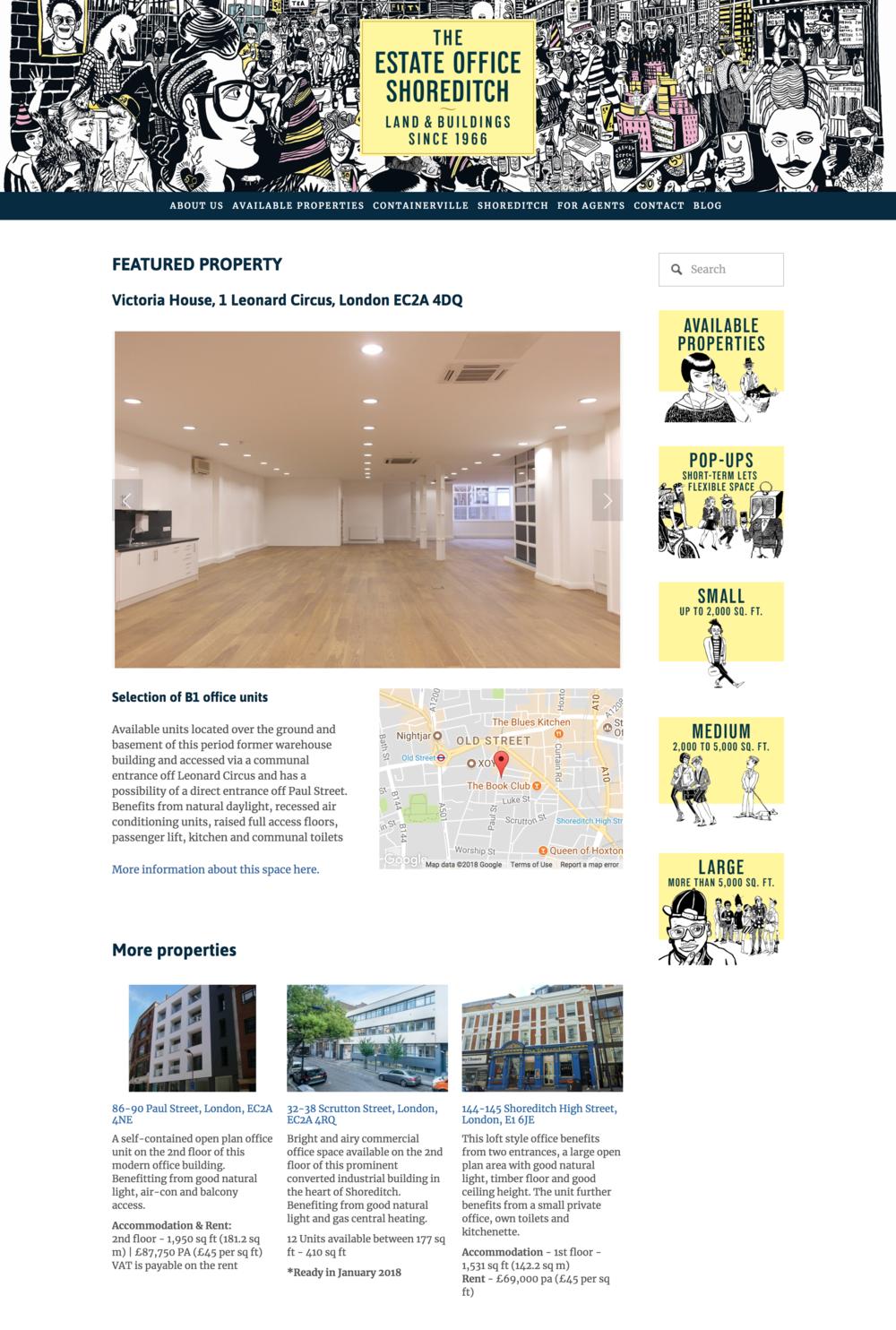 The Estate Office Shoreditch Real Estate Website