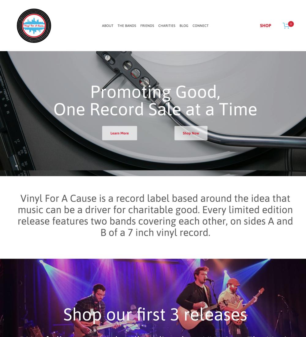 Vinyl For a Cause Muscian Website