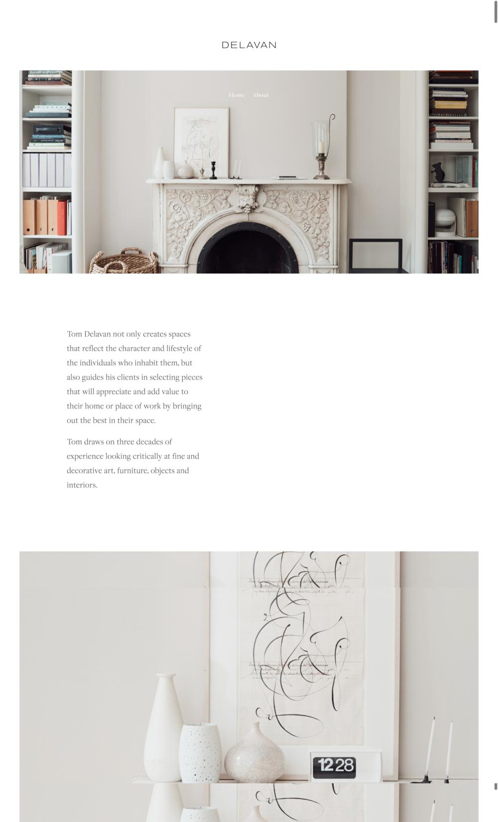 Tom Delavan Interior Design Website