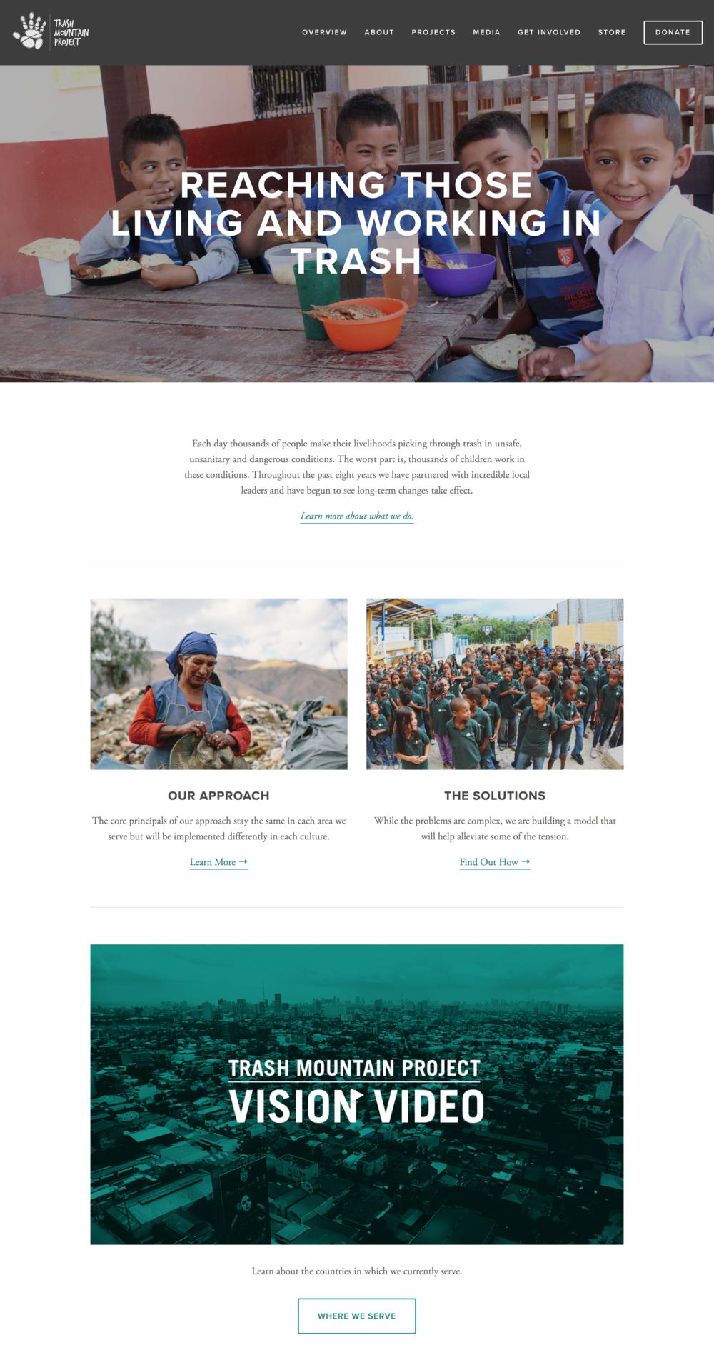 Trash Mountain Project Non-Profit Website