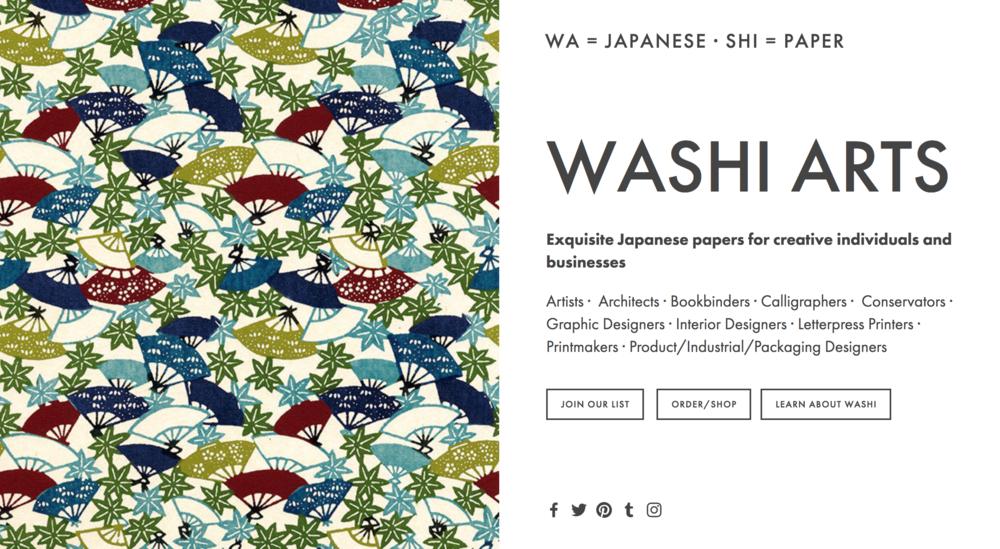 Washi Arts Online Store Website