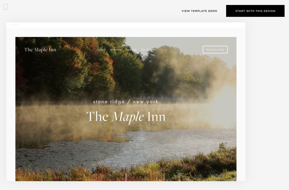 Example Squarespace Template