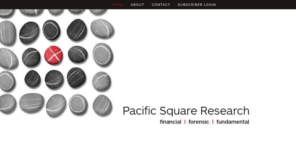 Pacific Square Research One Page Scrolling Website