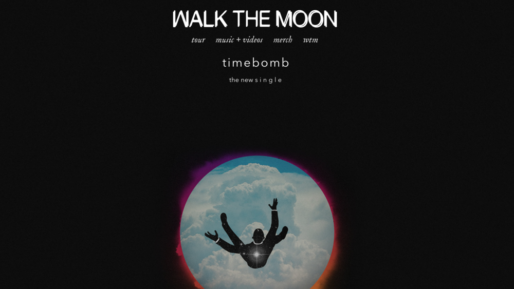 Walk the Moon one page scrolling music band website