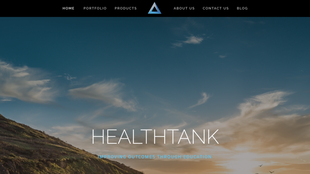 HealthTank one page scrolling website for healthcare business