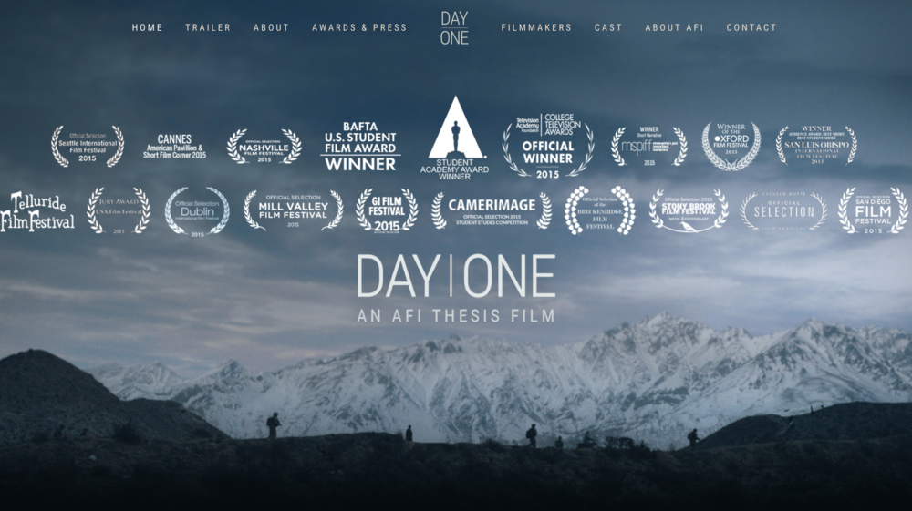 Day One One Page Scrolling Website for movie and film