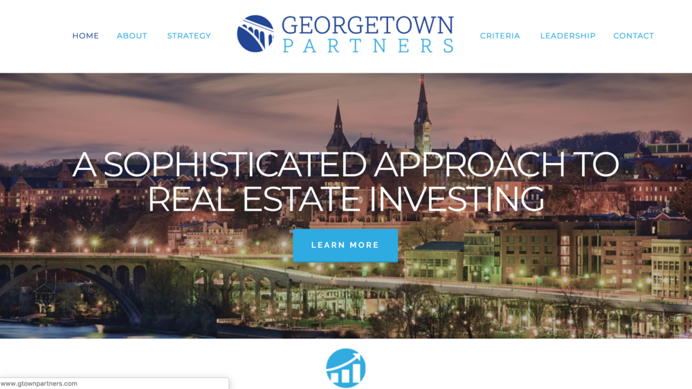 GeorgeTown Partners one page website for real estate investing