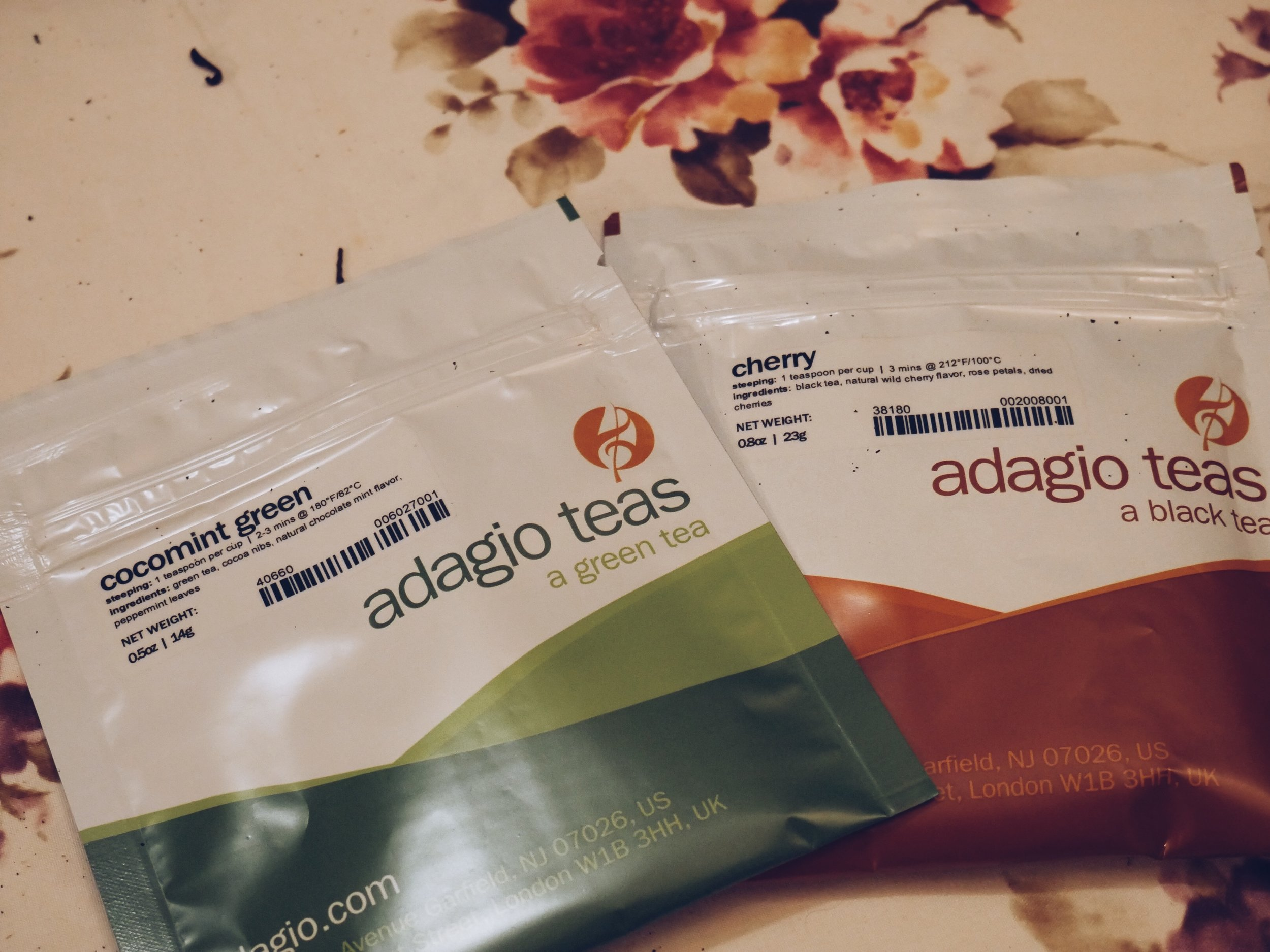 Adagio tea blends samples