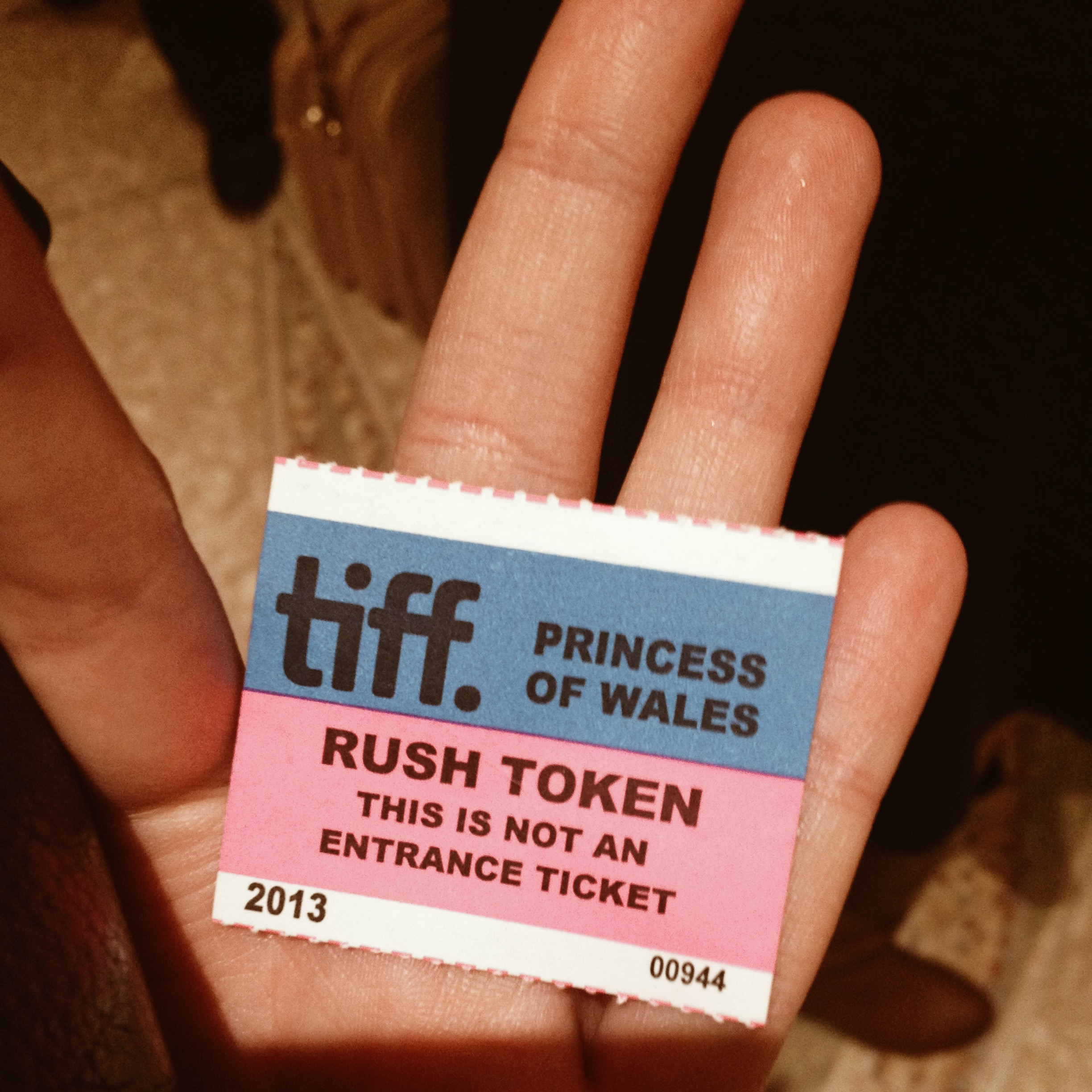 TIFF Rush ticket