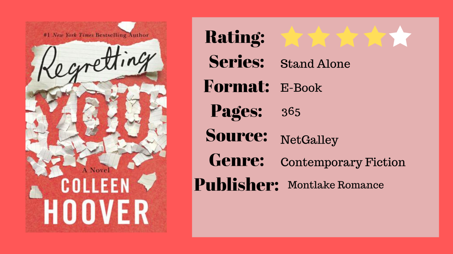 Book Review Regretting You By Colleen Hoover Daydreaming Through Books