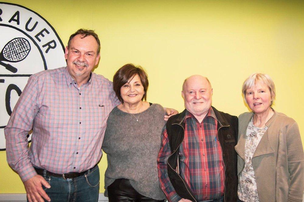 v. l.: Bert Beyer, Gloria Kunisch, Hans Atamaniuk und Doris Haldan