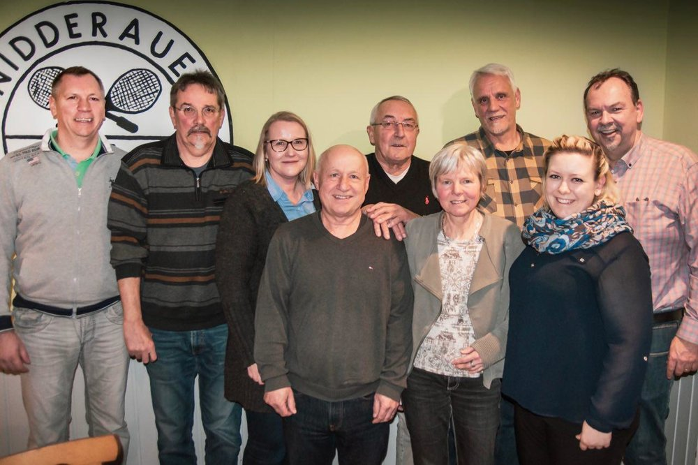 v. l.: Jan Zeleny, Alex Ochs, Andrea Müller, Reinhard Brabetz, Peter Reder, Doris Haldan, Helmut Amthor, Sarah Wrensch, Bert Beyer