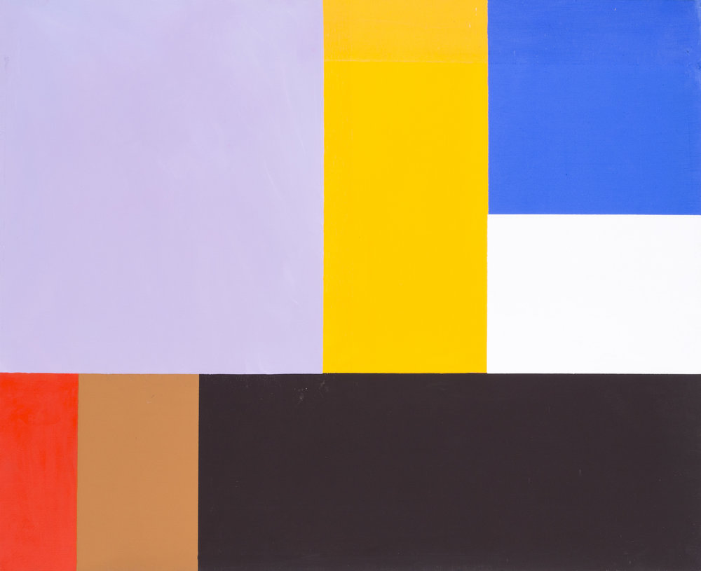 Construction, 1982    Acrylic on canvas  Signed and dated (on the reverse)  32 x 39.1/2 in. (81.3 x 100.3 cm.)   Price: £3,100