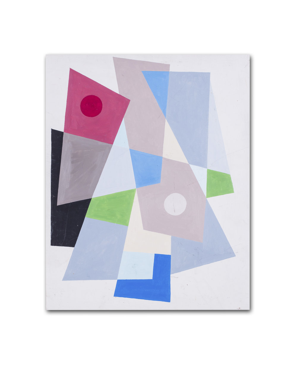Julie McLennen      Abstract Composition     Oil on board    22.3/8 x 18.1/4in. (57 x 46.5cm.)     Price: £1,200